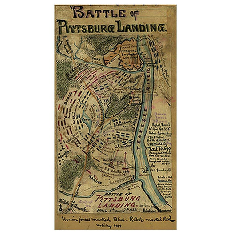 Battle of Pittsburg Landing Map