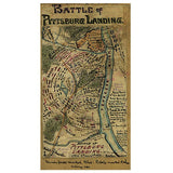 Battle of Pittsburg Landing Map - Library of Congress Shop