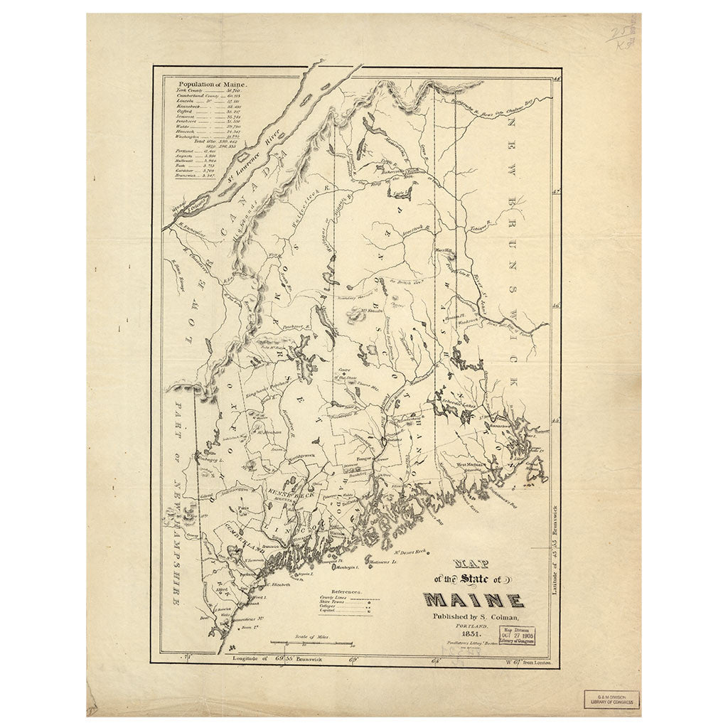Our State Map of Maine