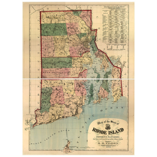 Our State Map of Rhode Island