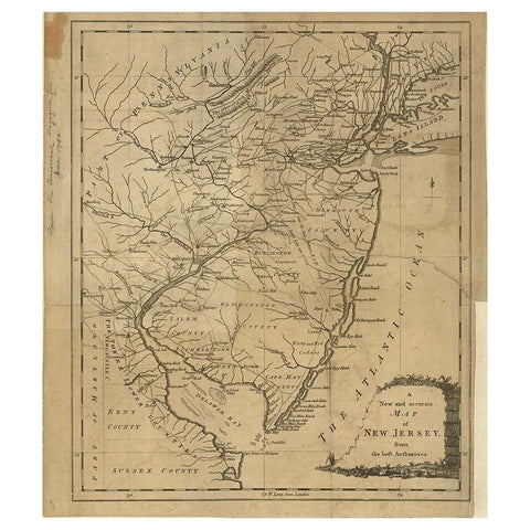 Our State Map of New Jersey Library of Congress Shop