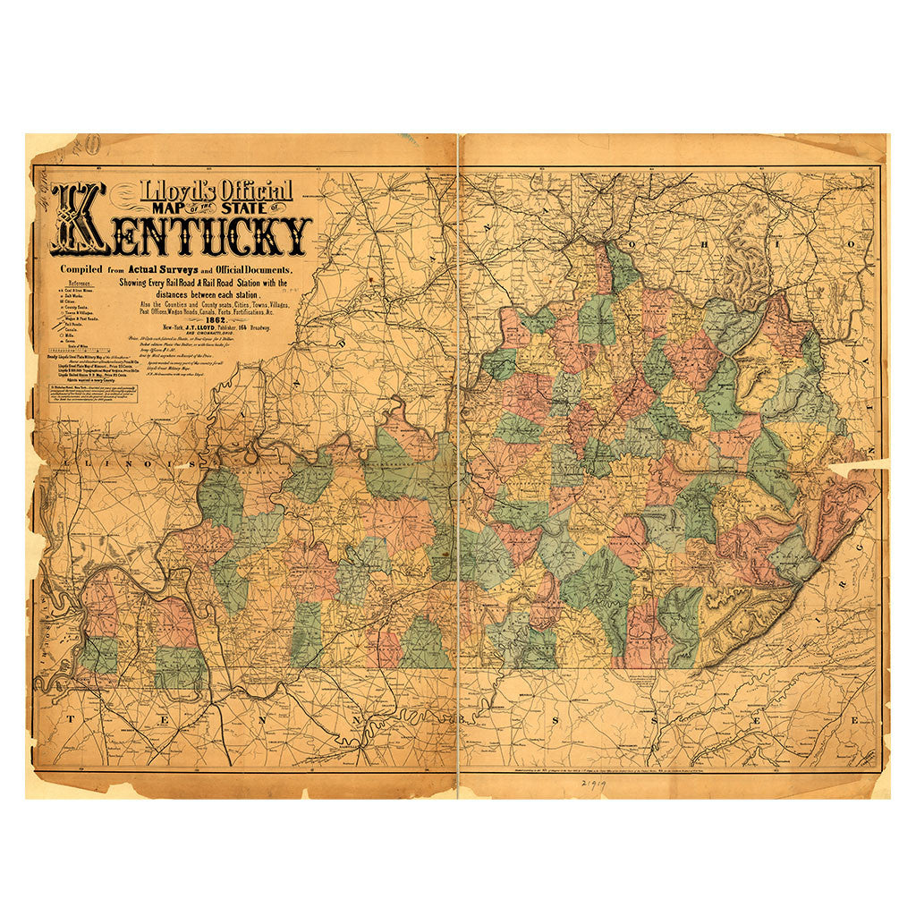 Our State Map of Kentucky