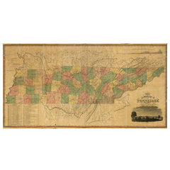 Our State Map of Tennessee