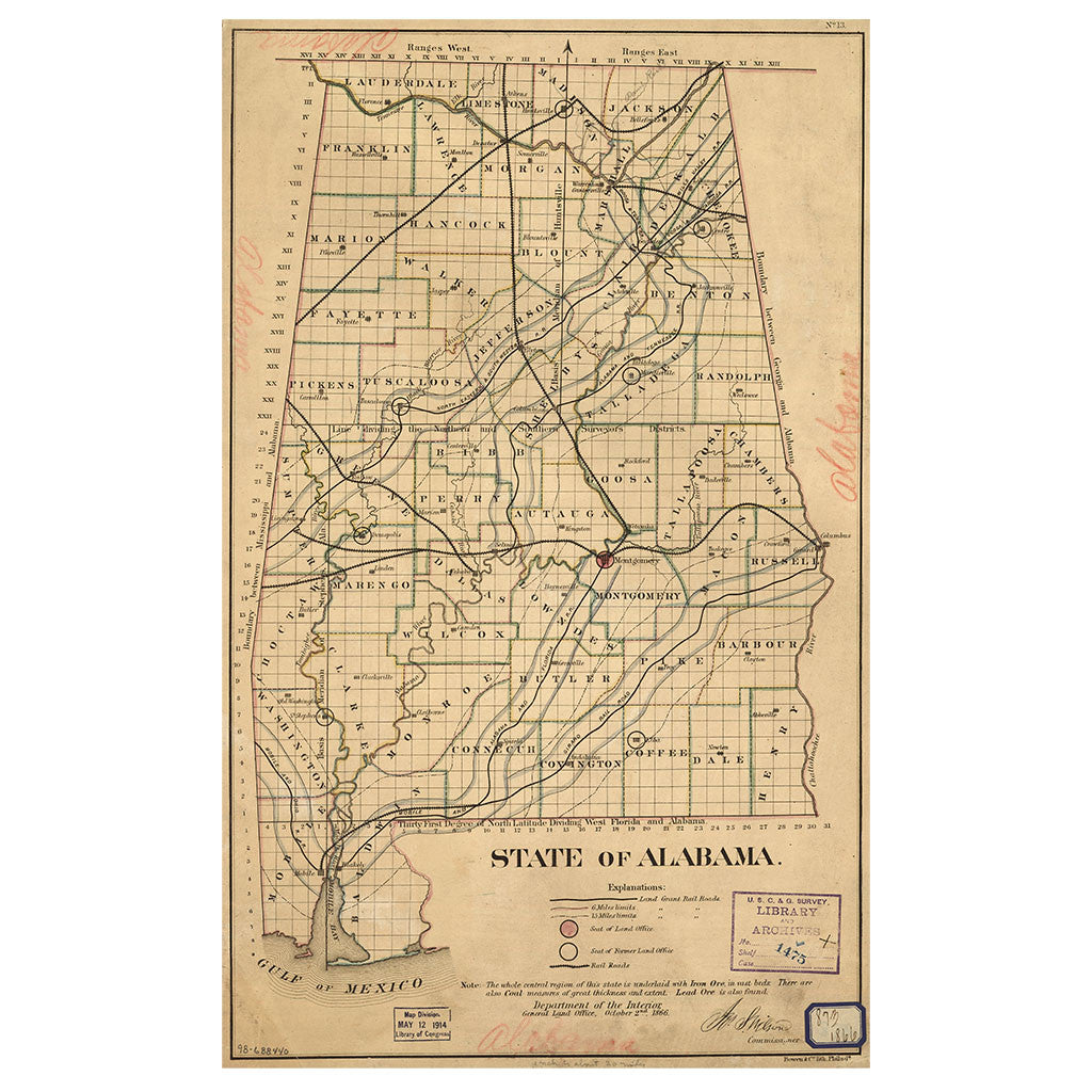 Our State Map of Alabama