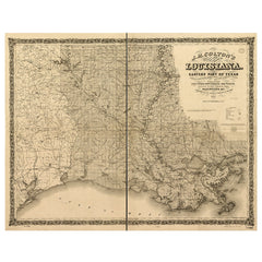 Our State Map of Louisiana