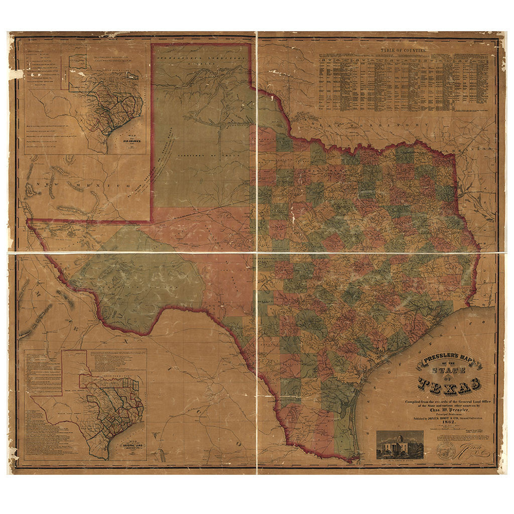 Our State Map of Texas