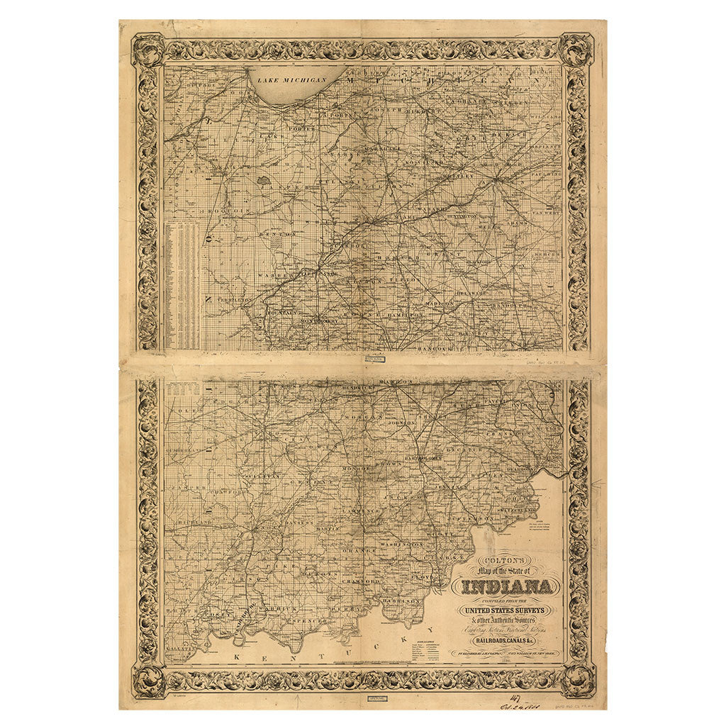 Our State Map of Indiana