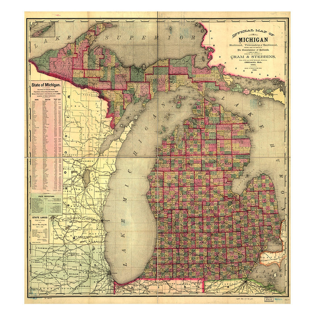 Our State Map of Michigan