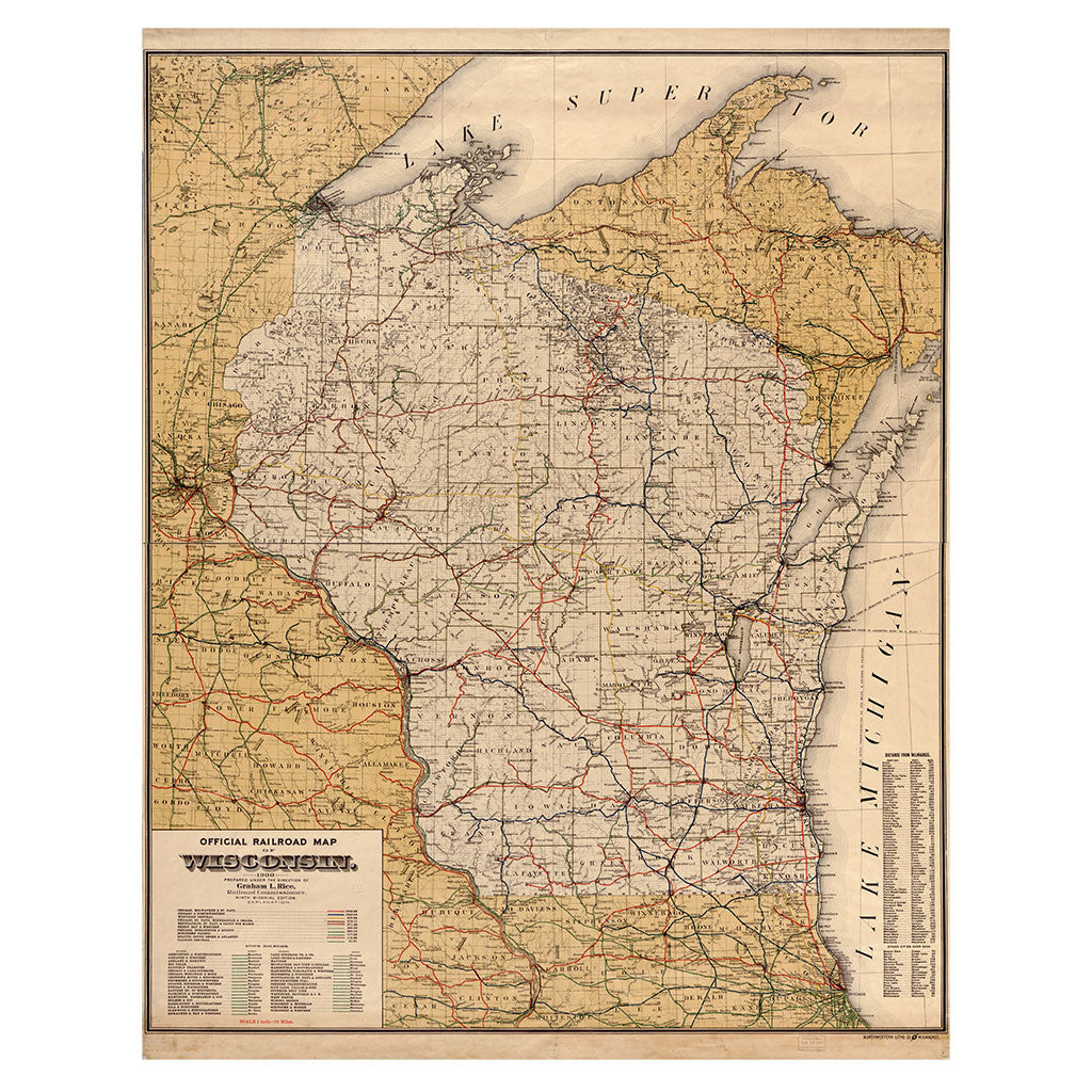 Our State Map of Wisconsin