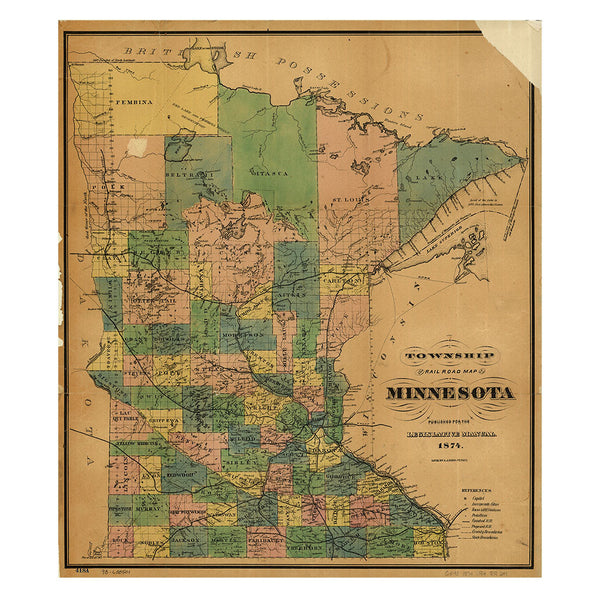 Our State Map of Minnesota
