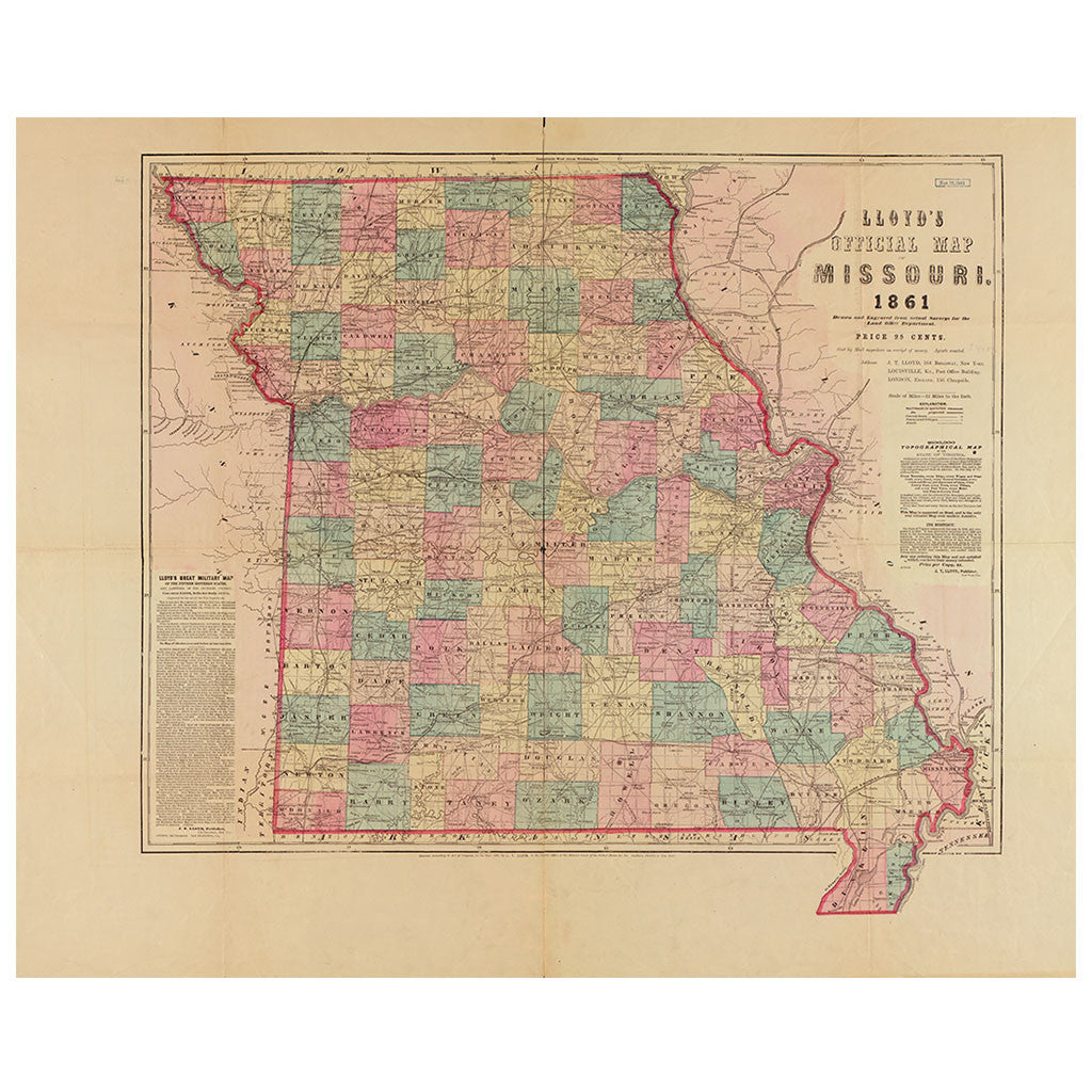 Our State Map of Missouri