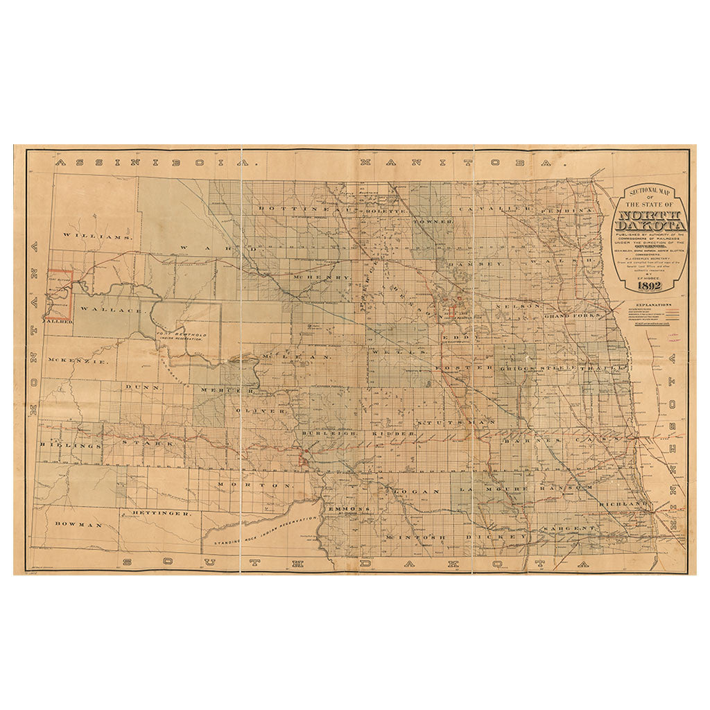 Our State Map of North Dakota  Library of Congress Shop