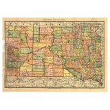 Our State Map of South Dakota