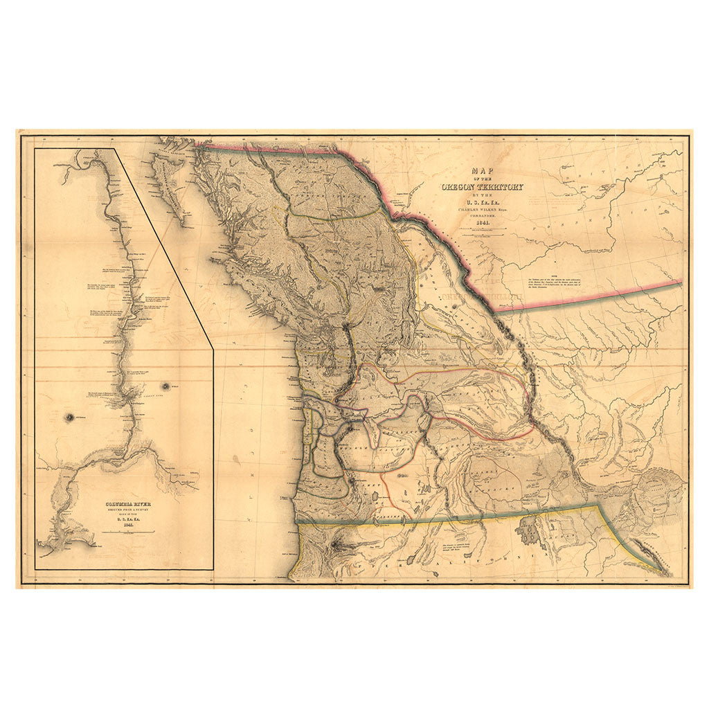 Our State Map of Oregon