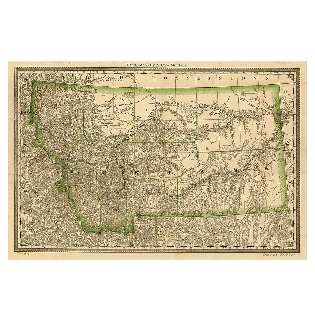 Our State Map of Montana