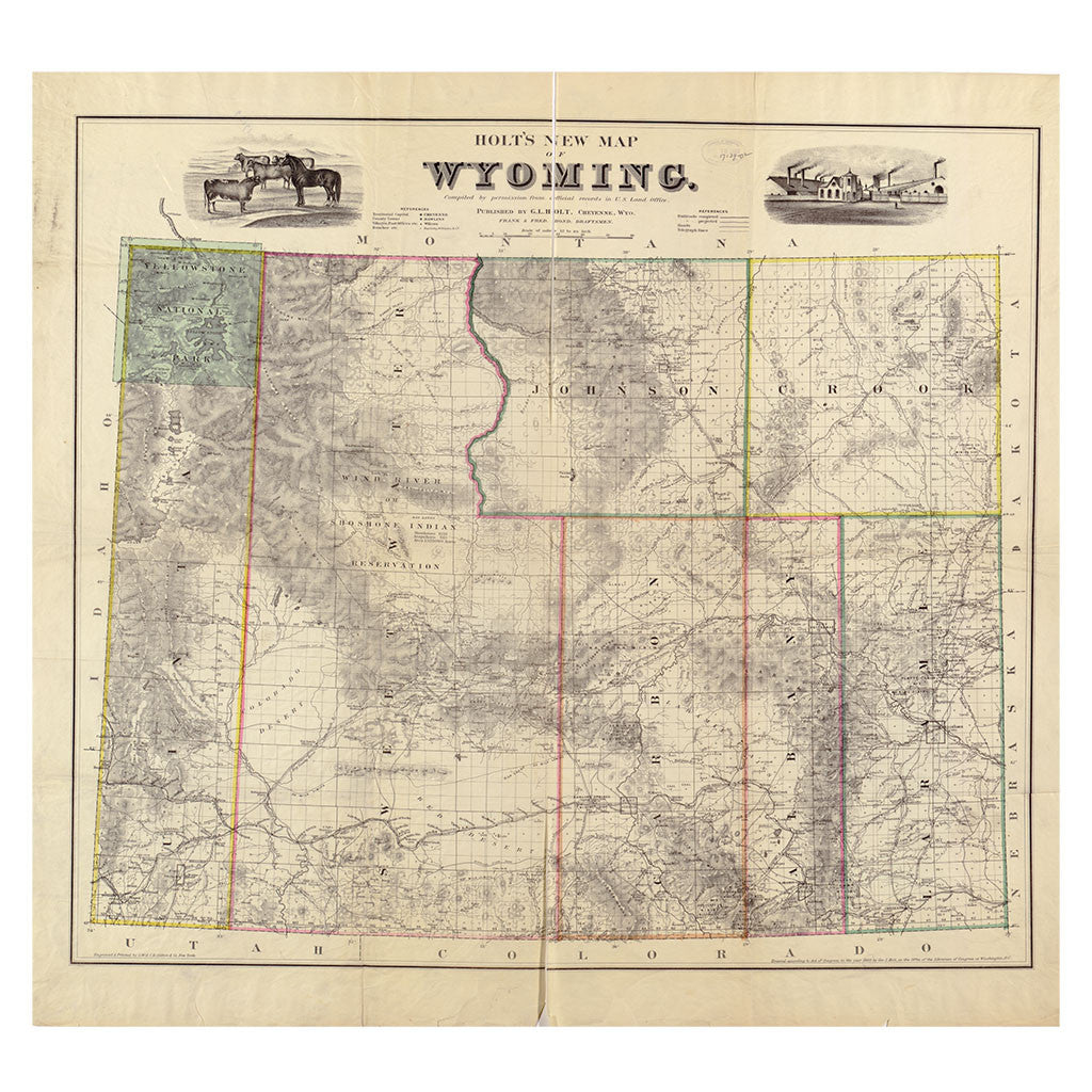 Our State Map of Wyoming