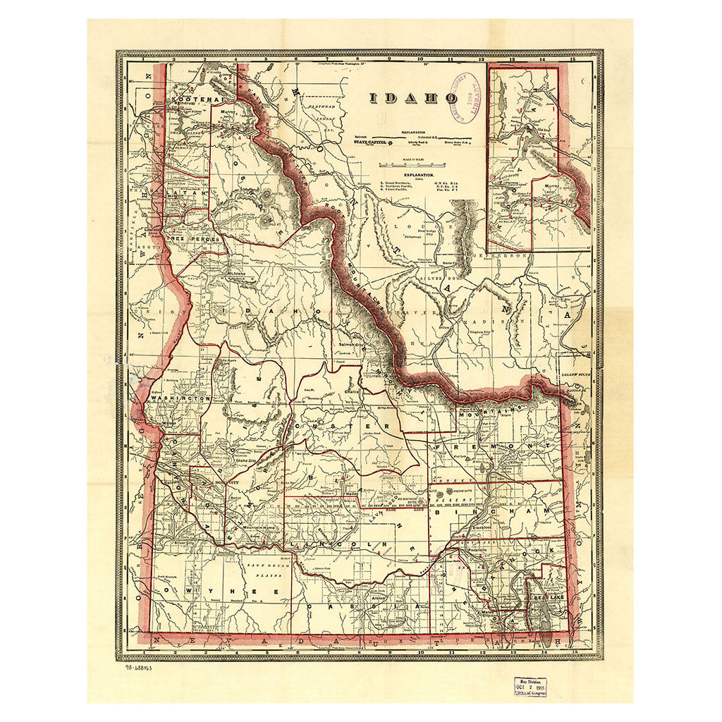Our State Map of Idaho