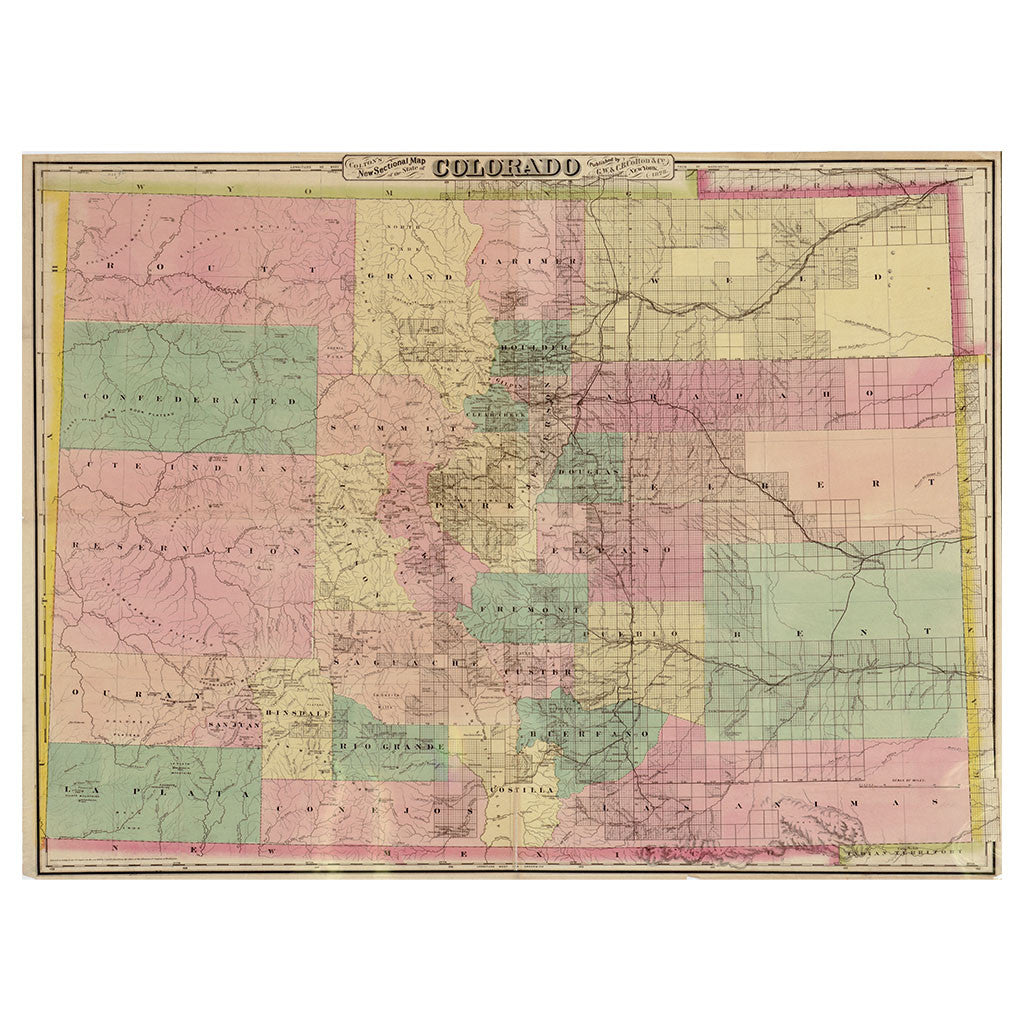 Our State Map of Colorado