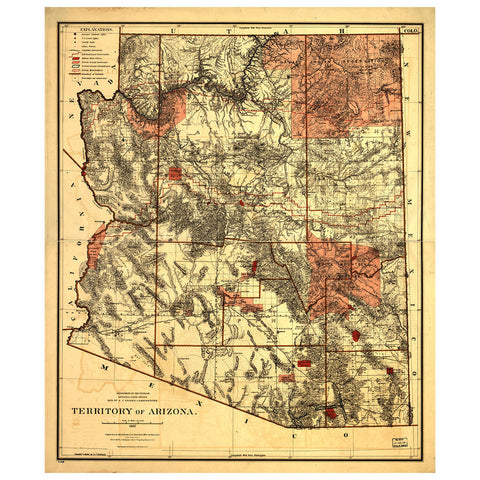 Our State Map of Arizona