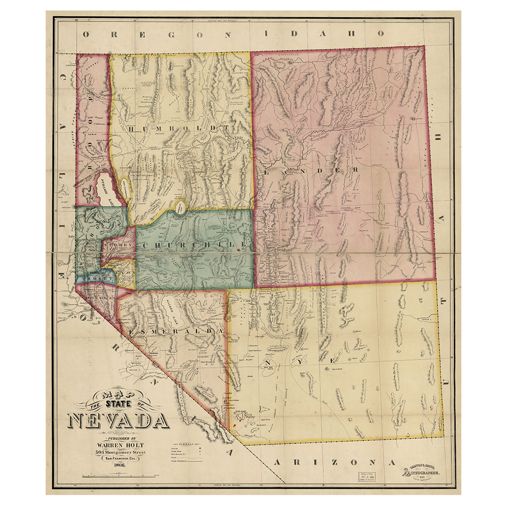 Our State Map of Nevada