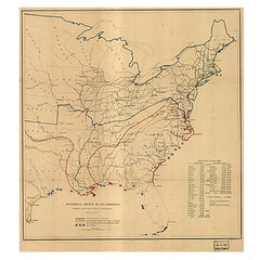Historical Sketch of the Rebellion Map - Library of Congress Shop