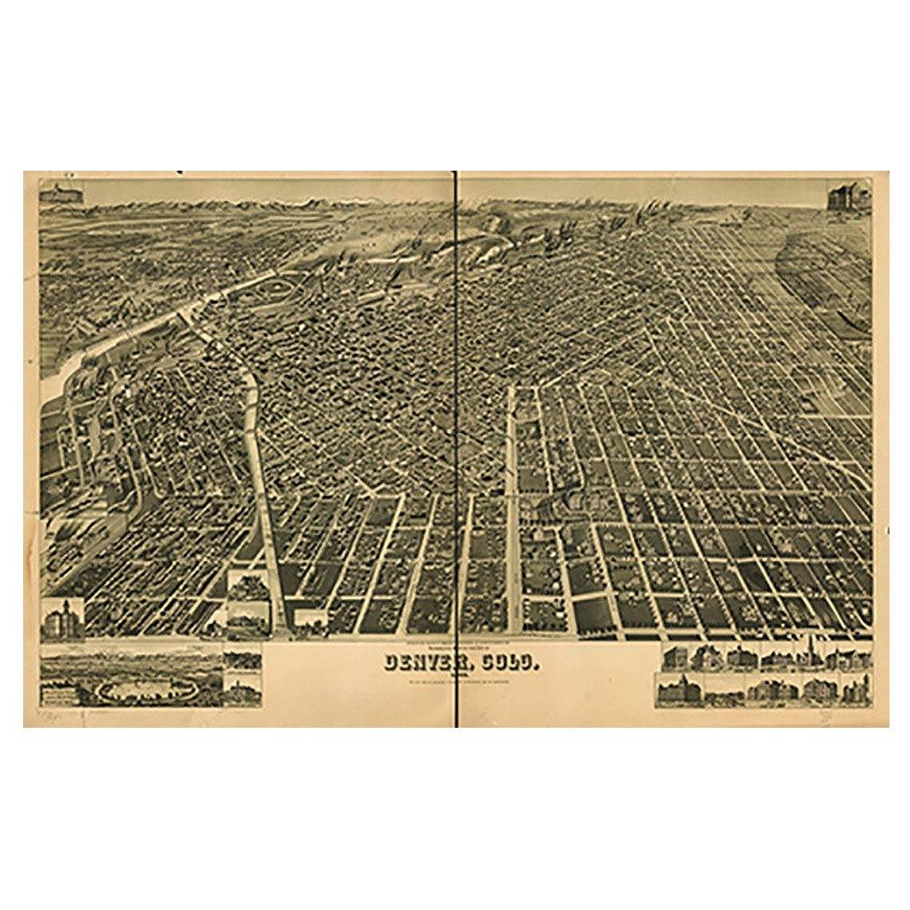 Denver, Colorado Map - Library of Congress Shop