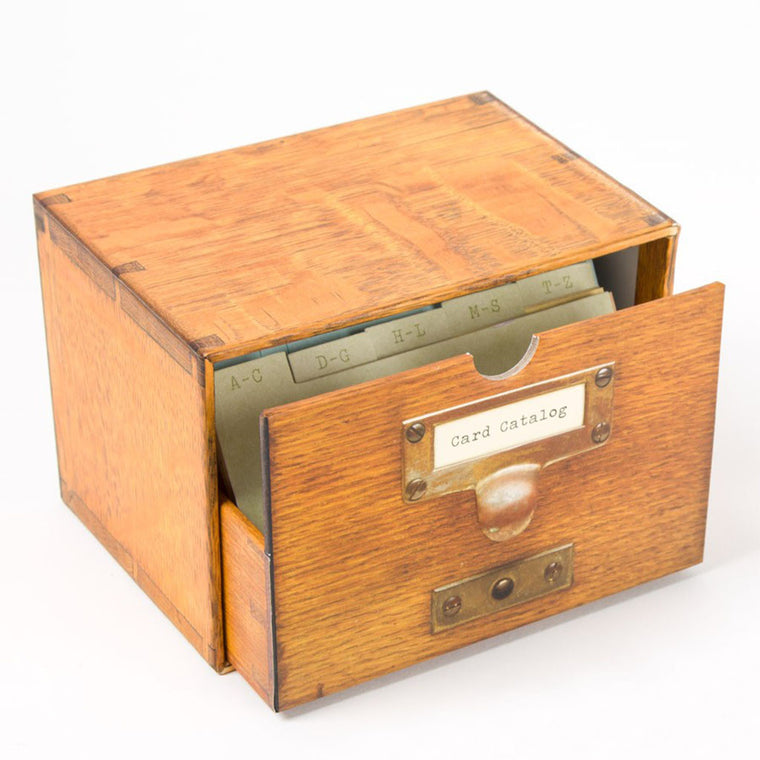 Library of Congress Card Catalog Notecards