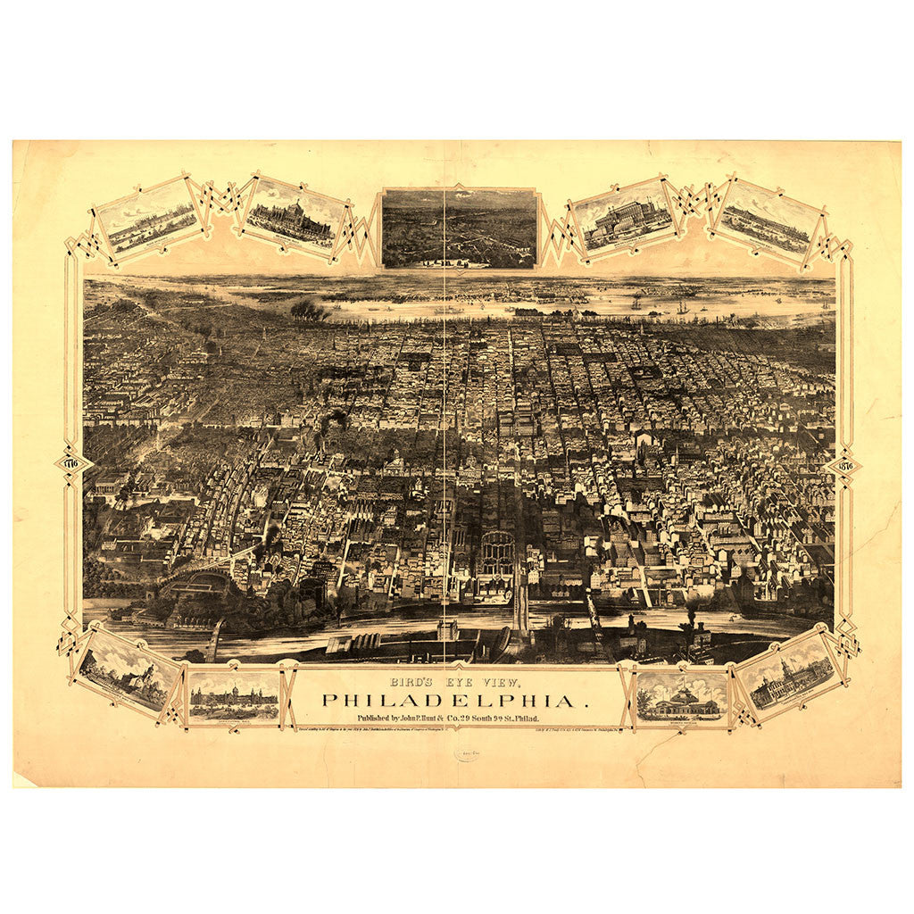 Our Bird's Eye view map of Philadelphia, Pennsylvania