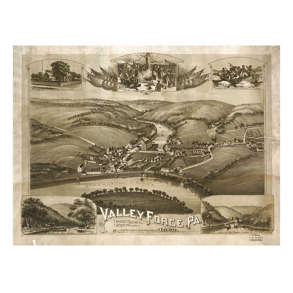 Our Birds Eye view map of Valley Forge, Pennsylvania