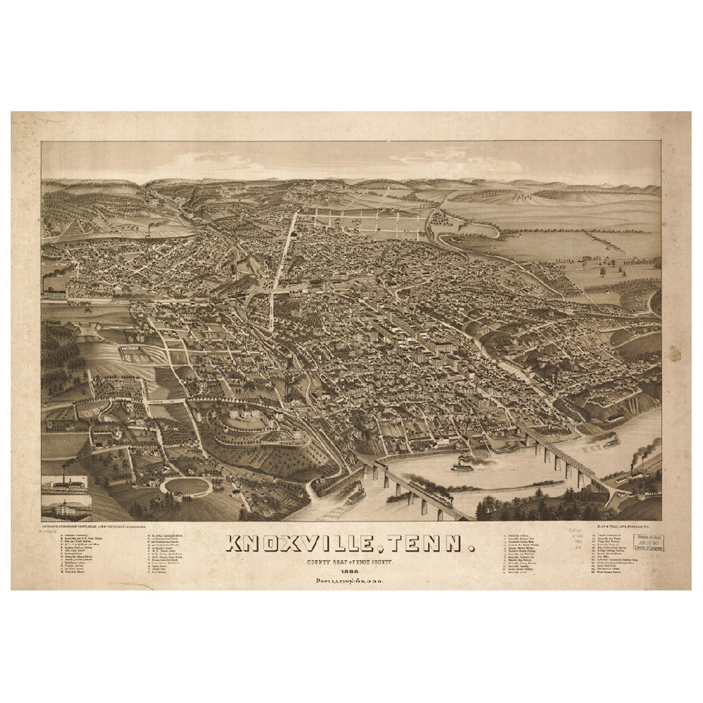 Our Bird\'s Eye view map of Knoxville, Tennessee – Library of ...
