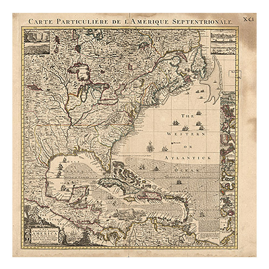 United States Map of British empire in America – Library of Congress ...