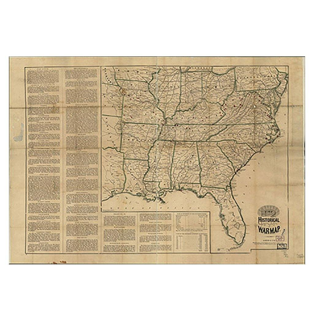 Civil War Map of the Southeastern United States - Library of Congress Shop