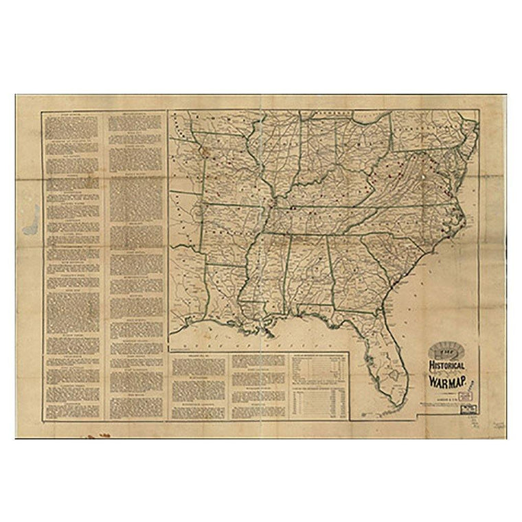 Civil War Map of the Southeastern United States