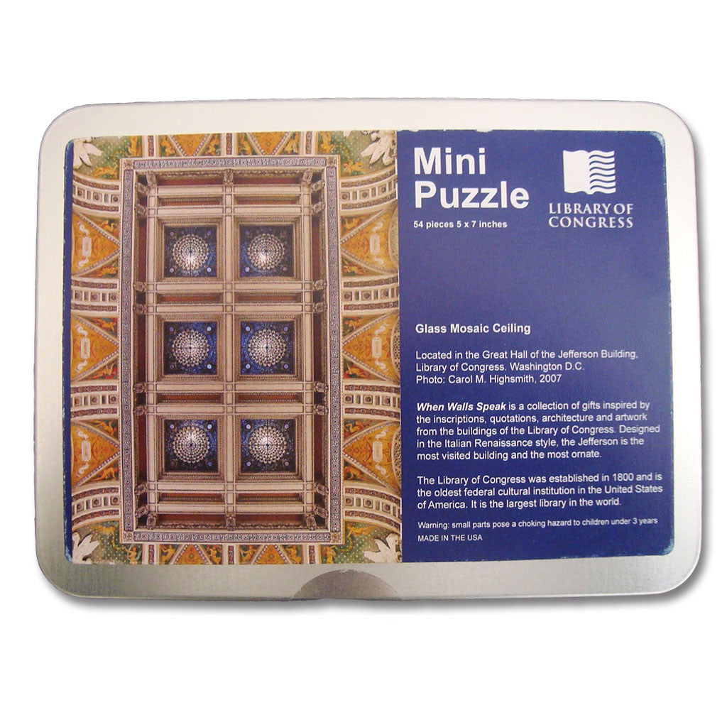 Mosaic Ceiling Mini Puzzle – Library of Congress Shop