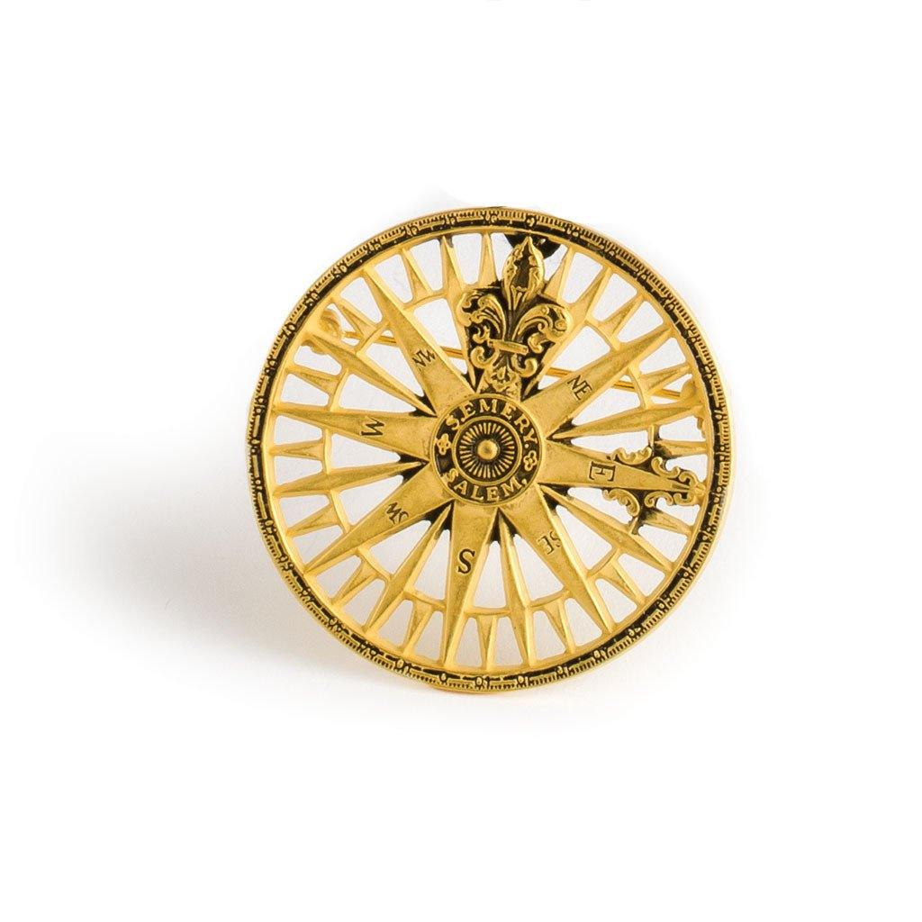 Compass Rose Pin – Library of Congress Shop