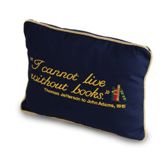 'I Cannot Live Without Books' Pillow - Library of Congress Shop