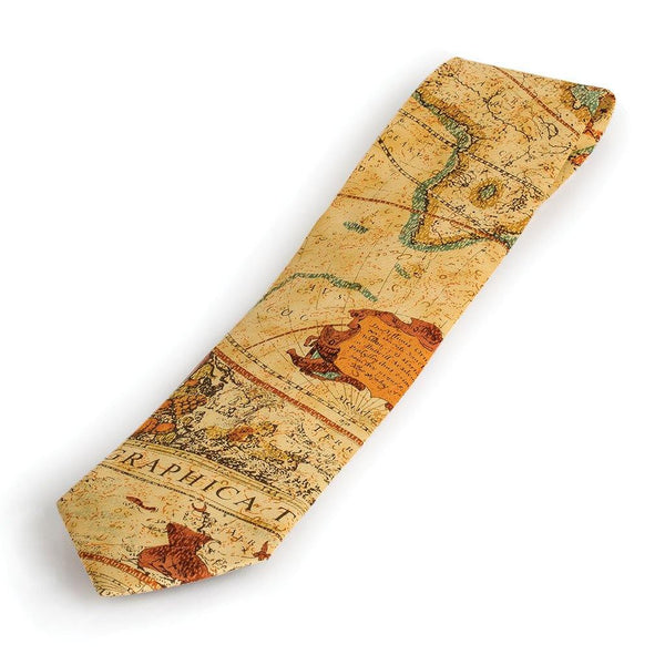 Exploration Silk Tie - Library of Congress Shop