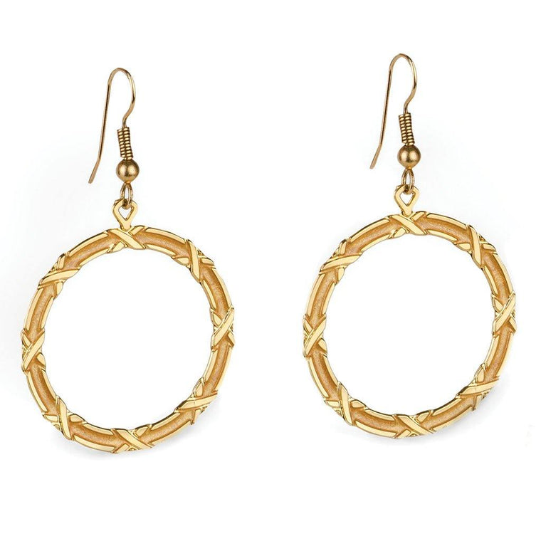 Gold Mosaic Earrings
