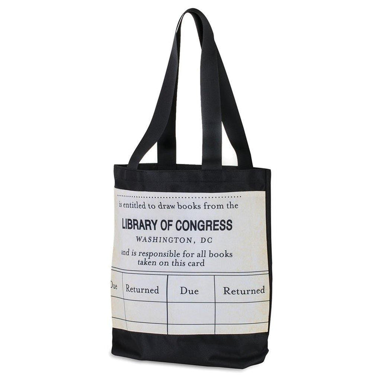 Library Card Tote Bag (W)