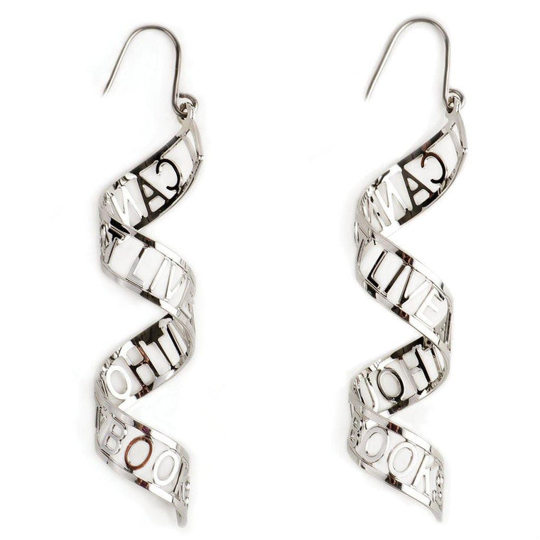 'I Cannot Live Without Books' Earrings (W)