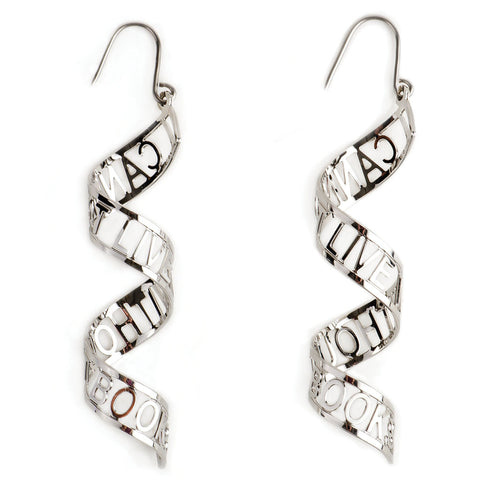 'I Cannot Live Without Books' Earrings