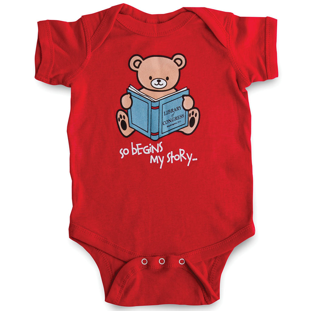 My Story Begins Onesie - Library of Congress Shop