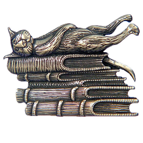 Gorey Cat Pin