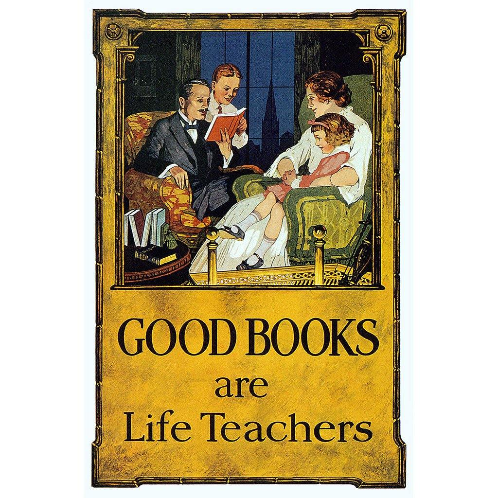 Good Books are Life Teachers Print - Library of Congress Shop
