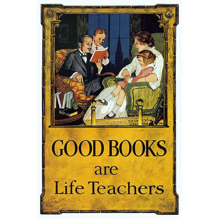 Good Books are Life Teachers Print