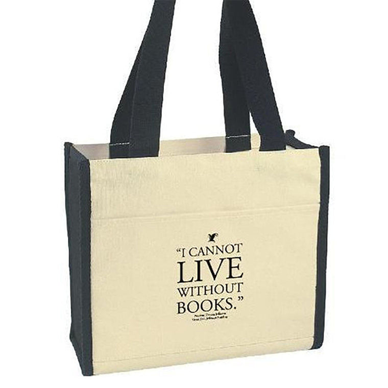 I Cannot Live Without Books Quote Tote Bag