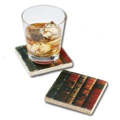 Antique Books Marble Coaster