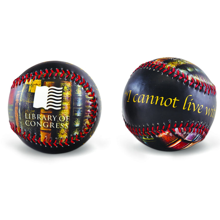 'I Cannot Live Without Books' Baseball