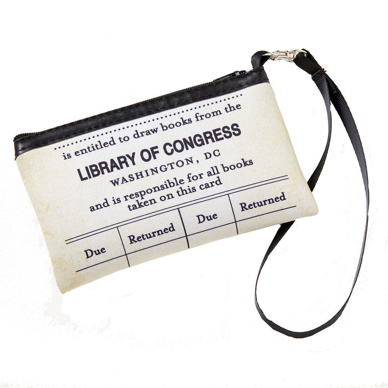 Library Card Wristlet