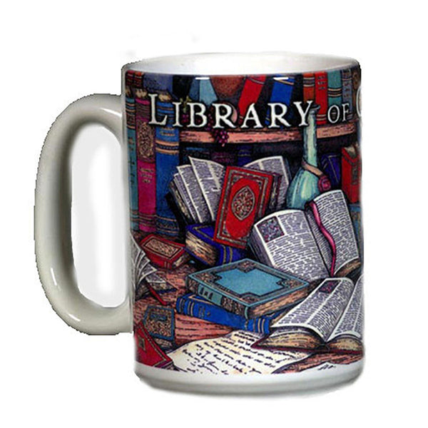 Painted Book Mug Library Of Congress Shop